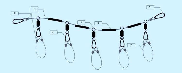Схема рыболовного кукана